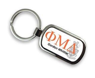 Phi Mu Delta Chrome Crest - Shield Key Chain