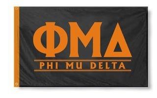 Phi Mu Delta Custom Line Flag