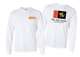 Phi Mu Delta Flag Long Sleeve T-shirt - Comfort Colors