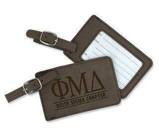 Phi Mu Delta Leatherette Luggage Tag