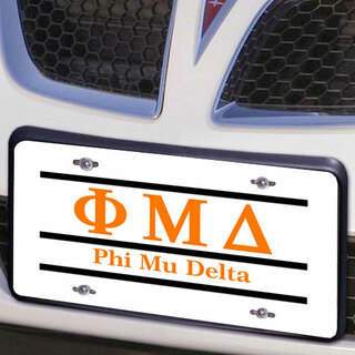 Phi Mu Delta Lettered Lines License Cover