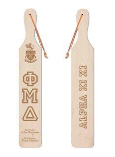 Phi Mu Delta Old School Wood Greek Paddle