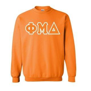 Phi Mu Delta Sewn Lettered Crewneck Sweatshirt