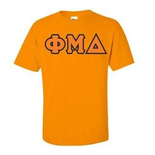 Phi Mu Delta Sewn Lettered T-Shirt