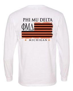 Phi Mu Delta Stripes Long Sleeve T-shirt