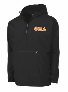 Phi Mu Delta Tackle Twill Lettered Pack N Go Pullover