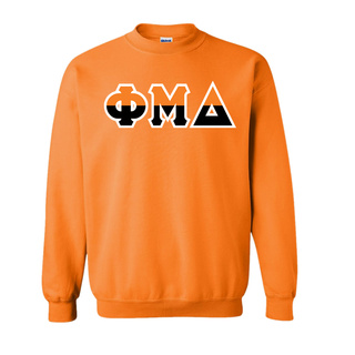 Phi Mu Delta Two Tone Greek Lettered Crewneck Sweatshirt