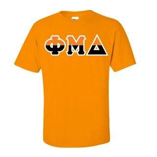 Phi Mu Delta Two Tone Greek Lettered T-Shirt