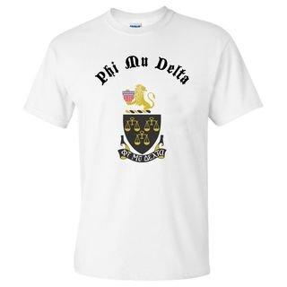 Phi Mu Delta Vintage Crest - Shield T-shirt