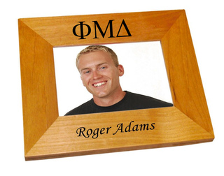 Phi Mu Delta Wood Picture Frame