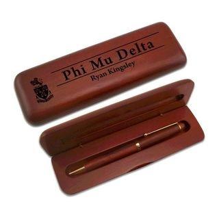 Phi Mu Delta Wooden Pen Set