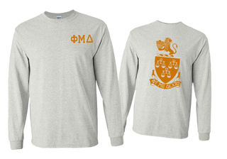 Phi Mu Delta World Famous Crest - Shield Long Sleeve T-Shirt- $19.95!