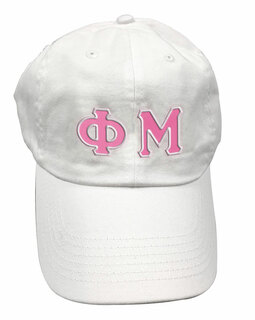 Phi Mu Double Greek Letter Cap