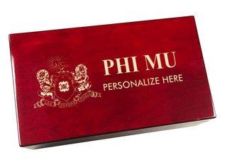 Phi Mu Engraved Gavel Set