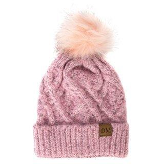 Phi Mu Faux Fur Pom Beanie Hat