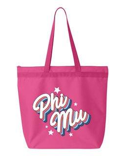 Phi Mu Flashback Tote Bag