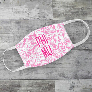 Phi Mu Floral Face Mask