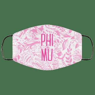Phi Mu Floral Face Mask
