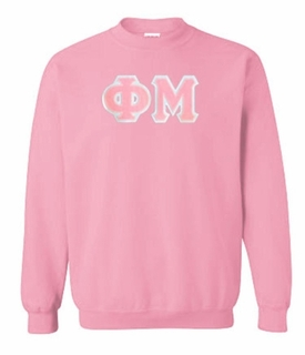 Phi Mu Greek Crewneck- MADE FAST!