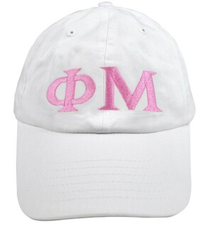 Phi Mu Greek Letter Hat