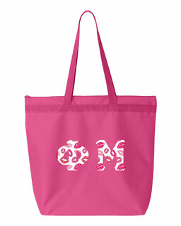 Phi Mu Greek Letter Liberty Bag