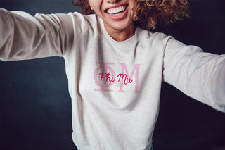 Phi Mu Greek Type Crewneck Sweatshirt