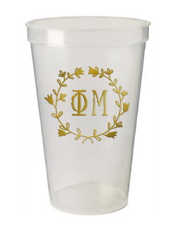Phi Mu Greek Wreath Giant Plastic Cup