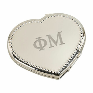 Phi Mu Heart Shaped Classic Compact