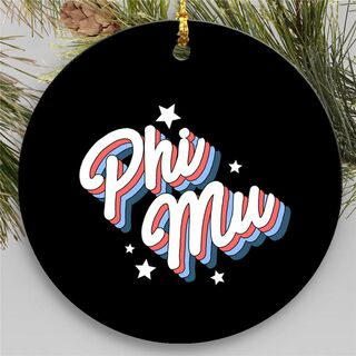 Phi Mu Holiday Flashback Ornaments