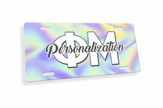 Phi Mu Holla License Plate