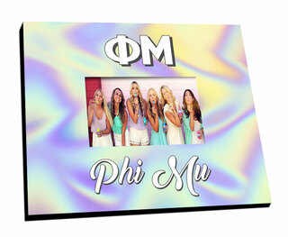 Phi Mu Holla Picture Frame