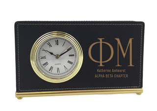 Phi Mu Horizontal Desk Clock