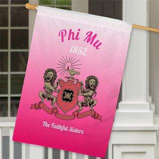 Phi Mu House Flag