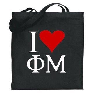 Phi Mu I Love Tote Bags