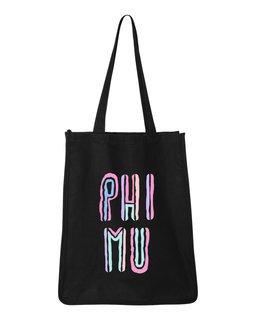 Phi Mu Jumbo All In Tote Bag