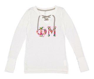 Phi Mu LAT - Sorority Fine Jersey Lace-Up Long Sleeve T-Shirt