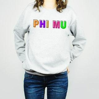 Phi Mu Leah Crew Sweatshirt