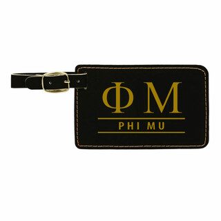 Phi Mu Leatherette Luggage Tag