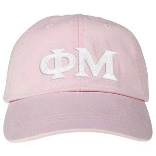 Phi Mu Lettered Premium Pastel Hat