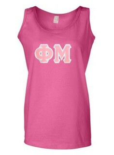 DISCOUNT-Phi Mu Lettered Ladies Tank Top