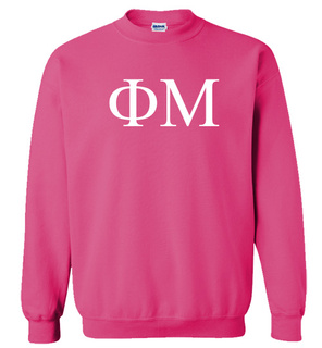 Phi Mu Lettered World Famous $19.95 Greek Crewneck