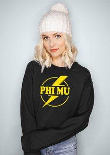Phi Mu Lightning Crewneck Sweatshirt