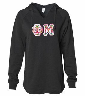 Phi Mu Lightweight California Wavewash Hooded Pullover Sweatshirt
