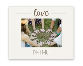 Phi Mu Love Picture Frame