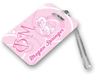 Phi Mu Luggage Tags
