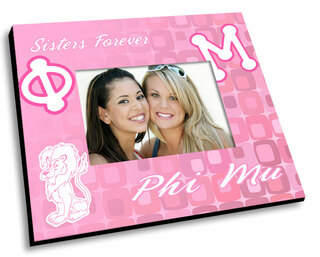 Phi Mu Mascot Color Picture Frame
