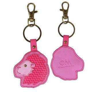 Phi Mu Mascot Keychain