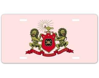 Phi Mu Crest - Shield License Plate