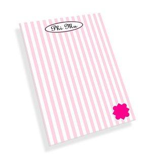 Phi Mu Mascot Notepad