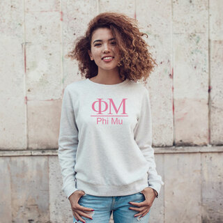 Phi Mu Message Crewneck Sweatshirts